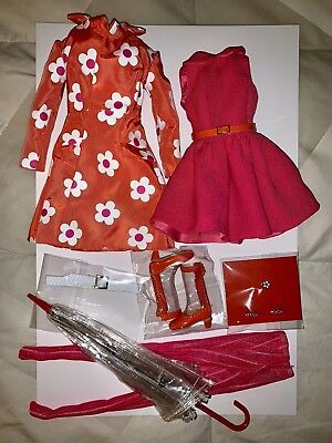 Poppy Parker Sunny Slicker Integrity Toys Swinging London Complete Outfit New