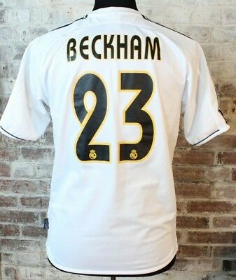 huge discount 02dfa d2c36 ADIDAS REAL MADRID David Beckham Jersey 23 2003 Home Men's Small S / M  EXCELLENT