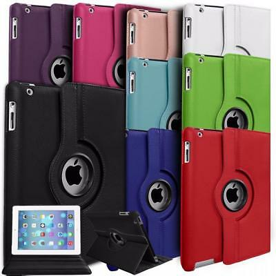luxury Case Cover For iPad Air 2 1 Mini Leather 360° Degree Rotating Smart Stand