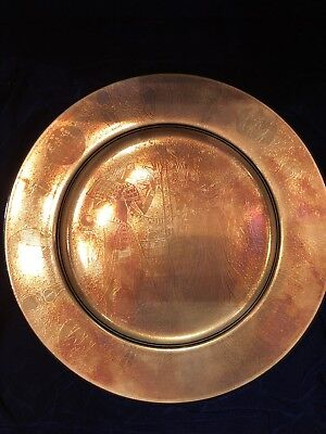 Rare Stunning Signed Porcelain Gold Plated Ancient Egyptian Scene Sheehi Plate