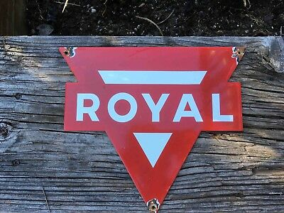 Old Royal Grade from Conoco Gasoline Porcelain Gas Pump Sign Plate