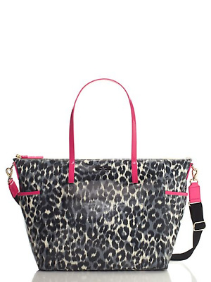 NwT KATE SPADE Leopard DAYCATION Adaira Baby Diaper Bag  Purse WKRU1696
