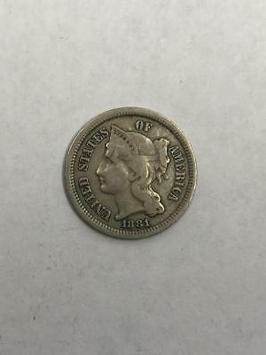 1881 3 Cents Coin.! Uncertified.! NR..!