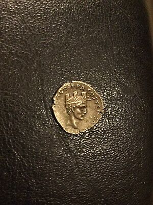 Octavian As Augustus, And Agrippa AR Denarius / Rome Mint, CH XF+/ Rare