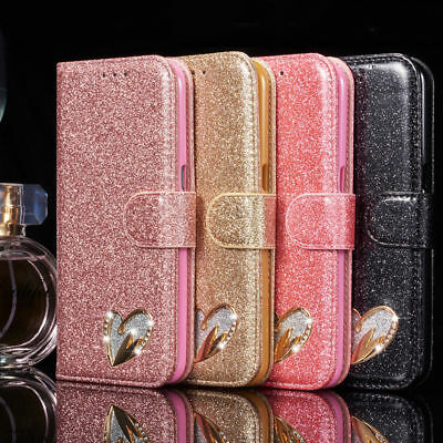 luxury Case cover for Apple iPhone X XS  Magnetic Flip Leather Wallet bling book