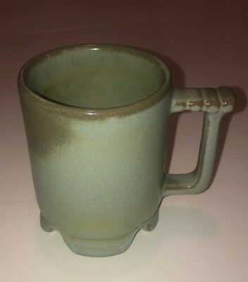 Frankoma Green C1 Cup Mug Clay Pottery in Great Condition