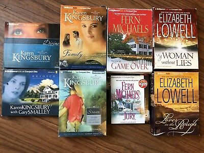Lot Of 8 Romance Audiobooks on CD. Kingsbury, Michaels, Lowell