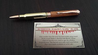 * NEW Makers Mark 308 Bullet Pen made with Makers Mark Barrel *