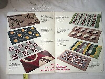 Retro Vintage Rare Readicut Book Of Rugs Mid Century