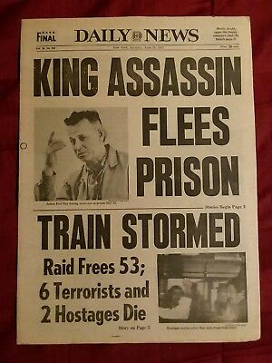 Martin Luther King Assassin -Charlie's Angels 1977 New York Daily News Newspaper