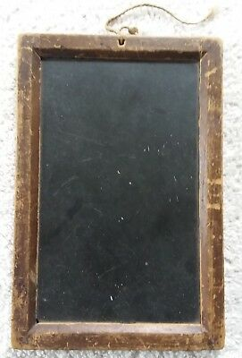 Antique Small Childs Primitive School Slate Vintage Wood Frame Mini Blackboard