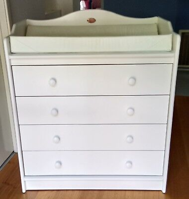 Boorie Country Collection Combined Drawers and Change Bench, White