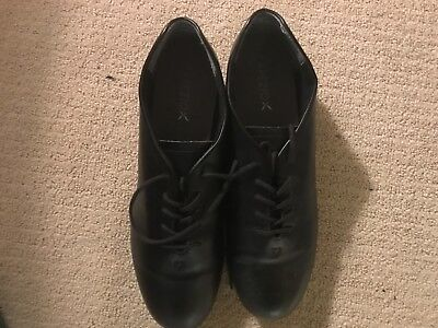 Black Barely Used Capezio Mens Tap Shoes Size 11.5