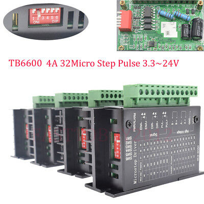 DIY CNC Controller Motor Drivers TB6600 Single Axis 4A 2/4 Phase Stepper Motor