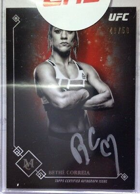 2017 Topps Ufc Museum Berthe Correia Silver Auto Autographed Card #ma-Bc 49/50