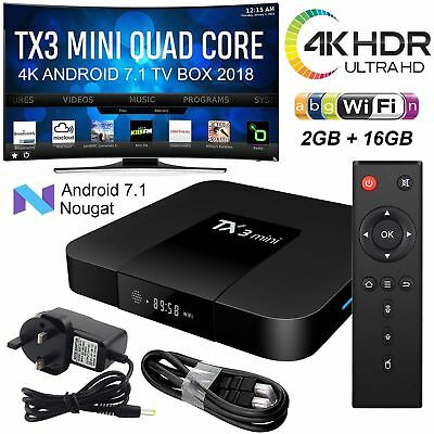 X96 mini X96-W TX3 mini TV BOX Android 7.1 4K 2GB 16GB Quad Core WiFi IPTV Set
