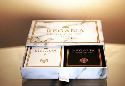 2 Deck Set - REGALIA COLLECTORS EDITION with Collectors Box Playing Cards