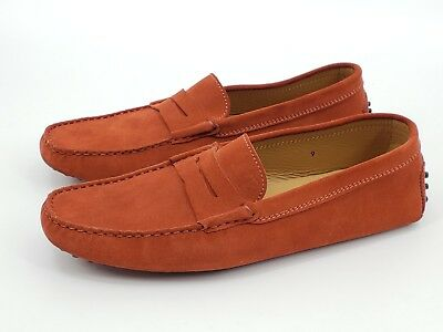 998bf3c7098 TOD S GOMMINO SUEDE Driving Shoes Mens 9 Burnt Orange Rust Loafers ...