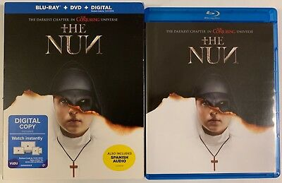 The Nun Blu Ray Dvd 2 Disc Set + Slipcover Sleeve Free World Wideshipping Horror