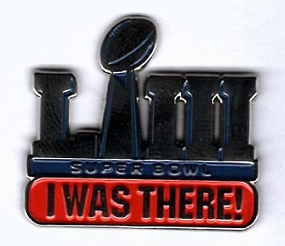 "Super Bowl 53 "" I Was There "" Pin Collector Fan Superbowl Liii Ships Now!!"