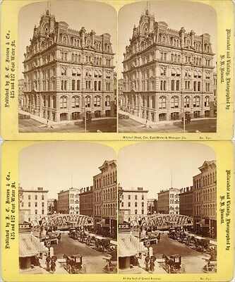 12 STEREOVIEWS Milwaukee Vicinity, Mitchell Block, Kirby House,Plankinton House