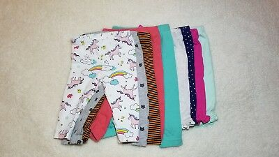 Carter's Baby Girls Pants Assorted Colors 9 Pretty Pairs Of Pants 3 Months