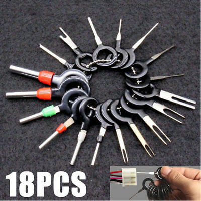 18x Car Wire Terminal Removal Tools Kit Wiring Connector Pin Extractor Puller
