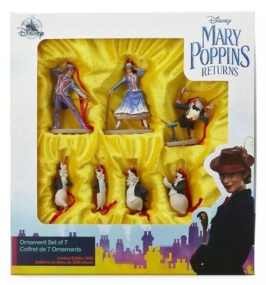 Disney Mary Poppins Returns Christmas Tree Ornaments Limited Edition Set (NEW)