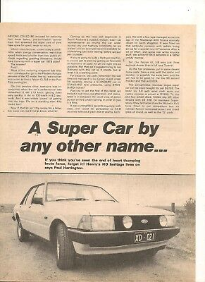 Original Vintage 1979 Xd Ford Falcon Gl 5.8 Australian 4 Page Feature