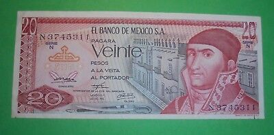 20 Pesos Note From Mexico