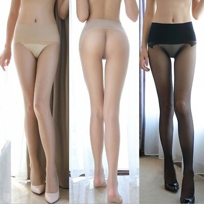 Women's High Waist Seamless Pantyhose Sheer Stockings Tights See Through Hosiery