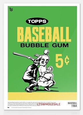 2018 Topps 80th Anniversary Wrapper Art  1964 TOPPS BASEBALL 10x14 Poster