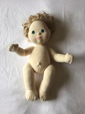 MY CHILD DOLL original 1985 blonde with aqua eyes and pink lipstick