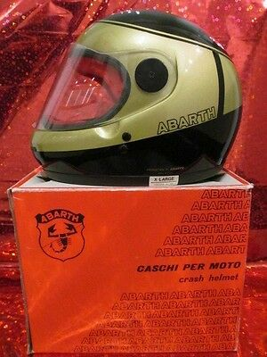 ABARTH-Racing-Integralhelm, original, racing helmet integral + ABARTH cap  NOS