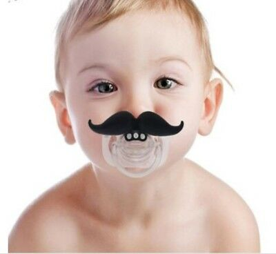 Funny Dummy Dummies Pacifier Novelty Moustache Babys Child Soother Beard Safe
