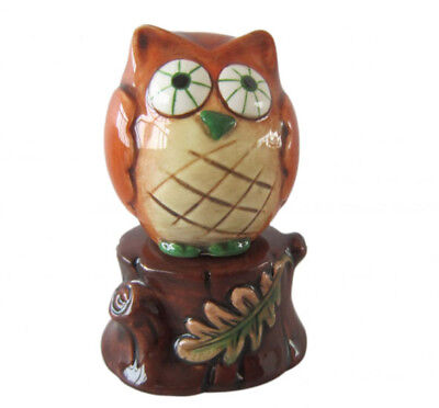 French Country Collectable Novelty OWL WITH STUMP Salt and Pepper Set New