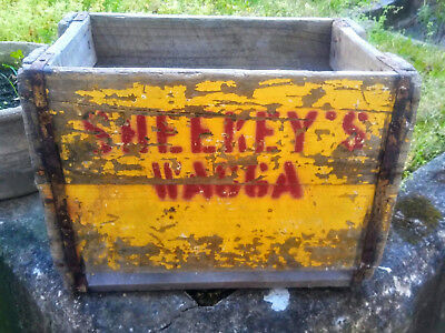 Vintage Sheekey's Soft Drink Wooden Crate, Wagga