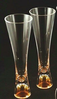 Veuve Clicquot Ponsardin Champagne Trendy Glass X 2 Unboxed Acrylic Not Glass!!!