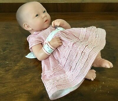 Berenguer Newborn Baby Girl Doll Anatomically Correct Hospital ID Tag Realistic