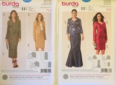 Sewing Patterns Burda Women Suits Skirt/Jacket