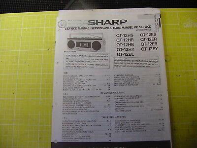 Sharp QT12 series service manual for stereo radio cassette recorder