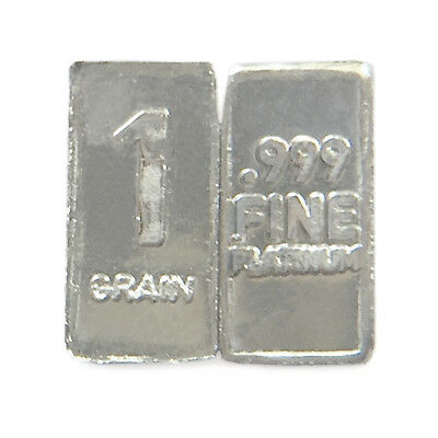 1 Troy Grain PLATINUM Bullion Micro Bar Pure.999 Fine Fast Free USA Shipping