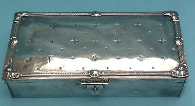 A2031 Stunning Heavy Gauge Solid Silver Box Chester