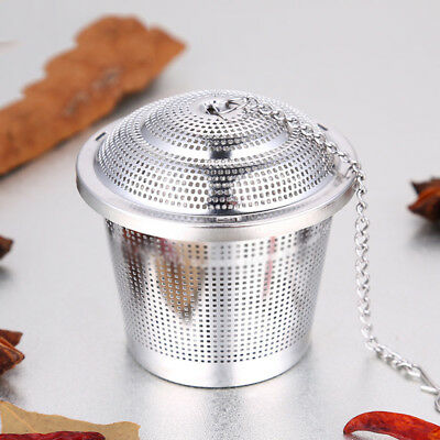 1Pc Stainless Steel Egg Shaped Tea Infuser Leaf Filter Strainer Sieve Tray Metal