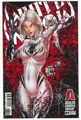 White Widow #1 (2019)  Jamie Tyndall Red Foil Variant Cover [Absolute Comics]