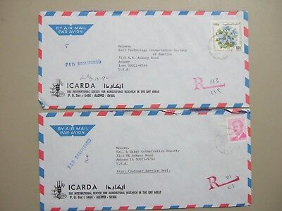 Two SYRIA registered covers