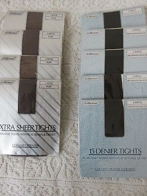 JOB LOT of VINTAGE St Michael M&S TIGHTS, SIZE LARGE, 4 FOX, 5 BROWNISH/BLACK