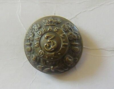 Indian Army. 3rd Madras Light Infantry Other Ranks Tunic Button