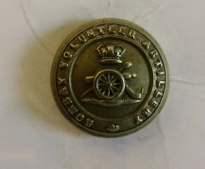 Indian Army. Bombay Volunteer Artillery Other Ranks Tunic Button