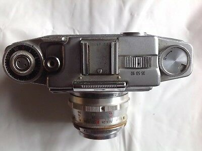 AGFA Vintage Ambi Silette Camera Body & Lens In Original Brown Leather Case